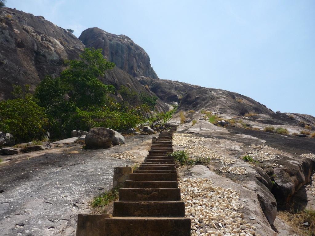 Stairs on Kagulu Rocks - Busoga