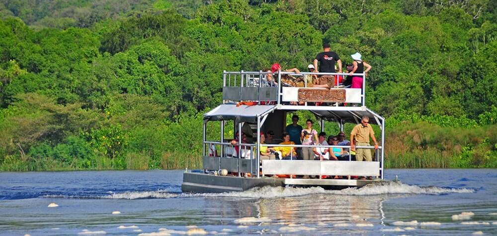 Boat cruise safari in Queen Elizabeth national park.